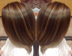 A beautiful medium brown base color with the perfect amount of dark blonde highlights