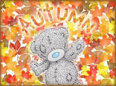 Fall/Autumn - Tatty Teddy Bear