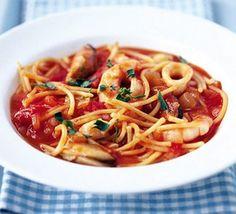 20-minute seafood pasta
