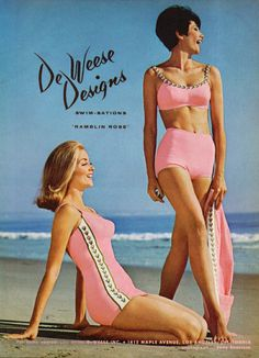 🌟Tante S!fr@ loves this📌🌟De Weese Lucy Fashion, Fashion D, Retro Fashion, Vintage Fashion, Vintage Bathing Suits, Vintage Swimsuits, Pinup Photoshoot, Men's Swimsuits, Bikinis