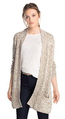 Esprit / Soft vest met open voorpand
