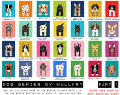 Dog art print chevron baby nursery art for children by Wallfry, $22.00