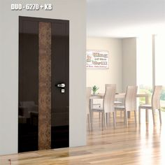 Drzwi wewnętrzne Umberto Cobeli model DUO-6270+KB, pokryte wysokiej jakości, błyszczącą folią akrylową.