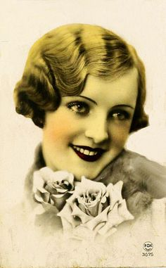 vintage postcard woman bonne annee