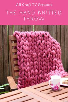 This hand knitted blanket is so easy to make! I have always wanted to make a hand knitted blanket/ throw out of roving so I thought I would give it a go and . Crochet Blankets, Knitted Blankets, Merino Wool Blanket, Hand Knit Blanket, All Craft, Afghans, Ideas Para, Hand Knitting, Presents