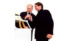 Werner Bulwahn und Götz George in Warnemünde