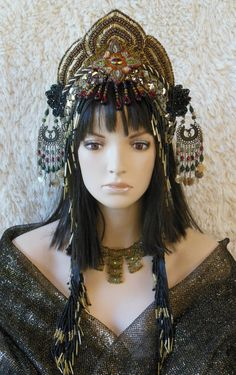 Fantasy Black & Gold Eygption Queen Cleopatra by MIMSYCROWNS