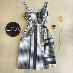 Lea Modas 🛍 Casual Wear, Casual Dresses, Casual Outfits, Fashion Dresses, Summer Dresses, Vetement Fashion, Diy Dress, African Dress, Vintage Outfits