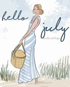 The Heather Stillufsen Collection from Rose Hill Designs JULY Seasons Months, Days And Months, Summer Months, Neuer Monat, July Quotes, Hello July, Positive Quotes For Women, Hello Weekend, New Month