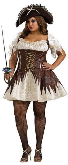 Plus Size Sexy Buccaneer Pirate Costume - Candy Apple Costumes - Sexy Women's Costumes