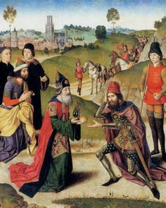 1465 The Meeting of Abraham and Melchizedek - Dirk Bouts