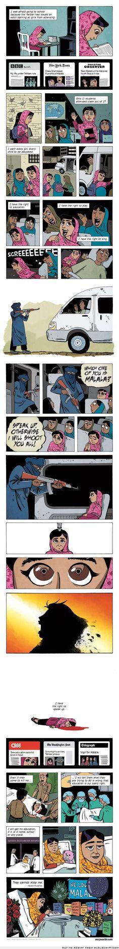 Malala Yousafzai- the 15 year old Pakistani girl who was shot in the head
