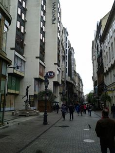 Vaci utca Budapest Hungary, Street View, Life