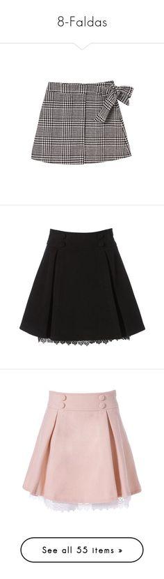 """8-Faldas"" by cristinamariaalvarezramirez ❤ liked on Polyvore featuring tops, skirts, bubble top, mini skirts, bottoms, short wool skirt, checkered skirt, wool mini skirt, pink wool skirt and wool skirt"