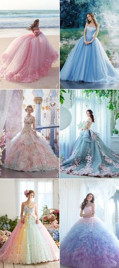 24 Princess-Worthy Bridal Ball Gowns You'll Love For the romantic bride at heart, nothing is sweeter than twirling in a beautiful ball gown! The ball gown silhouette is a timeless, princess-worthy style that features . Ball Gowns Evening, Ball Gowns Prom, Ball Gown Dresses, Prom Dresses, Formal Dresses, Evening Dresses, Pink Ball Gowns, Elegant Dresses, Pastel Gowns