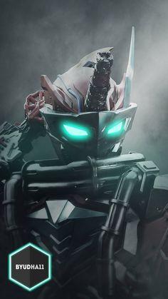 Blood Stalk Wallpaper by on DeviantArt Character Creation, Character Design, Mecha Suit, Hero Time, Kamen Rider, Power Rangers, Concept Art, Deviantart, Superhero