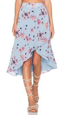 Shop for House of Harlow 1960 x REVOLVE Maya Wrap Skirt in Blue Floral at REVOLVE. Free day shipping and returns, 30 day price match guarantee. Blouse And Skirt, Blouse Dress, Dress Skirt, Maya Wrap, Revolve Clothing, Designer Dresses, Rock, Outfits, Clothes