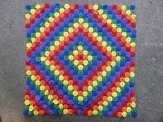 Love the colors & design! Yo-Yo Quilt