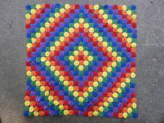 Love the colors & design! Yo-Yo Quilt
