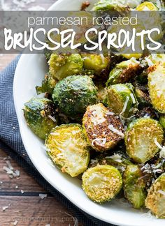Parmesan Roasted Brussels Sprouts are a super quick and easy side dish that's ready in less than 20 minutes! Parmesan Roasted Brussels Sprouts have quickly become one of my family's all time favorite vegetable side dish. Once you try this recipe, you'll know why!   You know how you're always looking for the next BIG way to cook Brussels sprouts? ... No? Just me? Well I've got this amazing Parmesan Roasted Brussels Sprouts recipe that's actually stupidly simple to make...