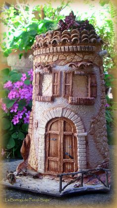 I really love this breathtaking photo Clay Houses, Ceramic Houses, Miniature Houses, Clay Fairy House, Fairy Garden Houses, Dad Crafts, Craft Stick Crafts, Popsicle Stick Houses, Clay Roof Tiles