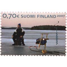 Postage Stamp Art, Finland, Winter, Travel, Winter Time