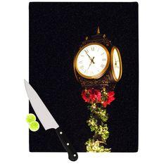 Xmas Clock Seasonal Cutting Board