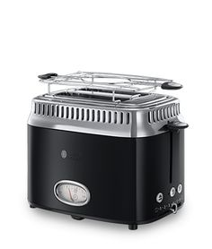 Russell Hobbs FR Toaster avec jauge compte à rebours Retro Noir Classic 21681-56
