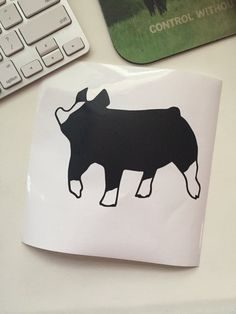 Berkshire Show Pig Vinyl Sticker by CarouselDesign on Etsy