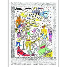 2008 Austin City Limits Music Festival Poster