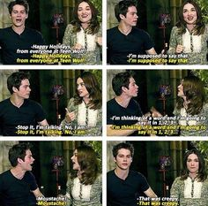 Dylan O'Brien and crystal reed