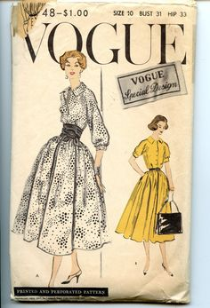 Vintage 1950s Vogue Special Design Sewing by VioletCrownEmporium