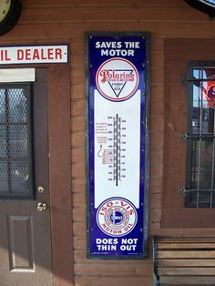 Old Polarine Motor Oil Sign by The Upstairs Room, via Flickr