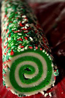 Colorful Christmas Slice and Bake Cookies