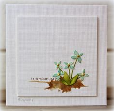 Rapport från ett skrivbord: Less is Handmade Birthday Cards, Greeting Cards Handmade, Diy Cards, Your Cards, Marianne Design, Artist Trading Cards, Watercolor Cards, Card Sketches, Card Tags