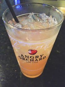 The Angry Cuban 1 1/2 oz clear rum 2 1/2 oz pineapple juice Big splash of grenadine Fill glass with Angry Orchard Hard Cider