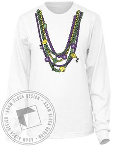 Kappa Alpha Theta Mardi Gras Longsleeve by Adam Block Design