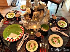Embace winter and set the table with a darling Polar Bear Frolic tablescape. I'm ignoring the freezing, and thinking like a polar bear, while inviting a few friends to a little winter party. See how a collection of Boyd polar bears is used to create an adorable sleigh ride centerpiece.