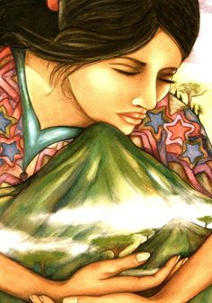 So deeply drawn to this image ~ born on the skirts of a volcano in Latin america this speaks to my heart ~ embracing and reconnecting ~ rooted in reverence. ~RM ♥ (the embrace by Claudia Tremblay)