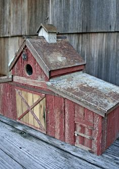 Barn with Rooster Birdhouse