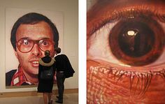 """Chuck Close - this painting is called """"Mark"""". Mark was my painting professor at SUNY- he's a good friend of Chuck Close. Chuck Close Art, Chuck Close Paintings, Hyperrealism, Photorealism, Hyperrealistic Art, Elements And Principles, Galleries In London, Portraits, Images Google"""