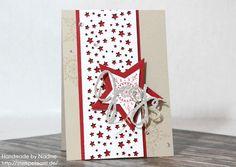 Stampin Up Weihnachtskarte Christmas Card Karte Card Framelits Willkommen Weihnacht, Framelits Stern Kollektion #stampinup #weihnachtskarte #christmascard #card #karte #stempelmami #adventskalender