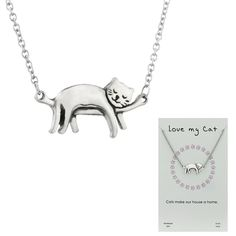 Dozing Kitty Necklace at The Animal Rescue Site