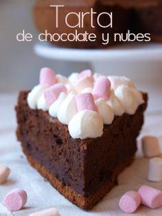 Bocados dulces y salados: Tarta de chocolate y nubes