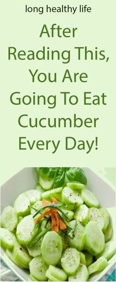 After Reading This, You Are Going To Eat Cucumber Every Day! : After Reading This, You Are Going To Eat Cucumber Every Day! Cucumber Canning, Cucumber Recipes, Salad Recipes, Cucumber Plant, Cucumber Juice, Canning Recipes, Dessert Recipes, Desserts, Healthy Diet Plans