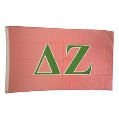 Delta Zeta Letter Sorority Flag by GreekLifeStuff on Etsy