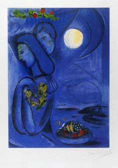 Marc Chagall, Lithograph, Saint Jean Cap Ferrat, 1952