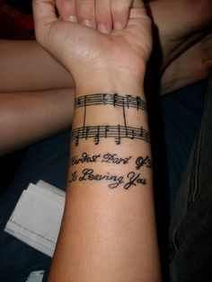 musical tattoos | music note tattoo | Tumblr