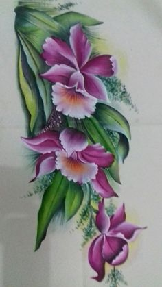 Minhas  pinturas China Painting, Tole Painting, Fabric Painting, Diy Painting, Watercolor Paintings, Fabric Paint Designs, Detailed Paintings, Shade Flowers, Color Magic