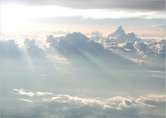 SunRise thru clouds at feet - window seat - somewhere over the earth. For the best visual impact and a larger view, please view this image on a black background Pictures Images, Pretty Pictures, Photos, Pokemon Backgrounds, Black Backgrounds, Shades Of Light Blue, Scenery Background, Cloud Lights, Sky And Clouds